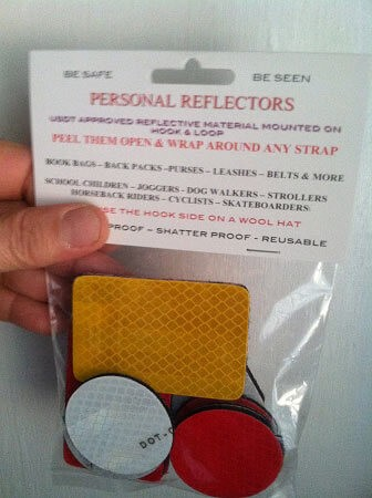 10 pack of Assorted Reflectors (6 round & 4 rectangles)