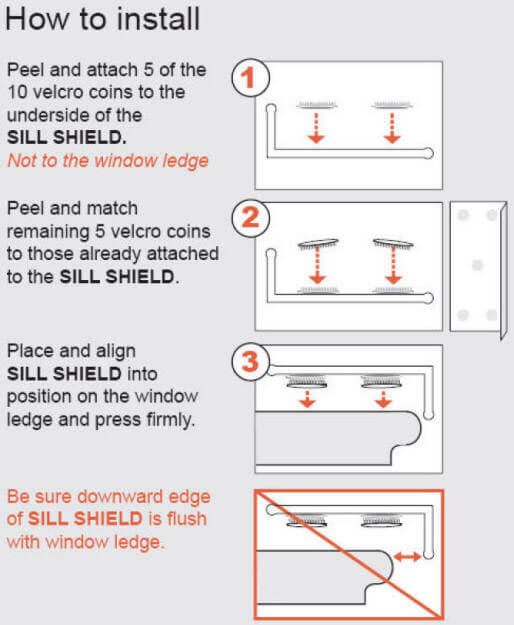 How to install Sill Shields