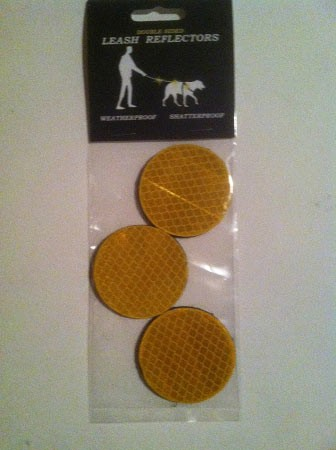 3-Pack round leash reflectors