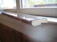 Custom WIDTH and DEPTH Size Clear Sill Shield