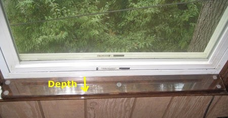 Custom DEPTH Size Clear Sill Shield
