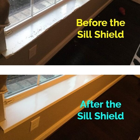Sill Shield Window Sill Protector In Clear Or White