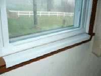 "29-1/2"" White Sill Shield"
