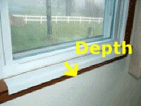 Custom DEPTH Size White Sill Shield